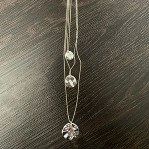 Multi-layer Long Disc Necklace